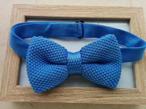 Πλεκτό-Παπιγιόν-γαλάζιο