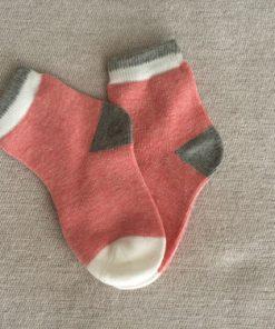 Παιδικές κάλτσες με ροζ, γκρι και άσπρο
