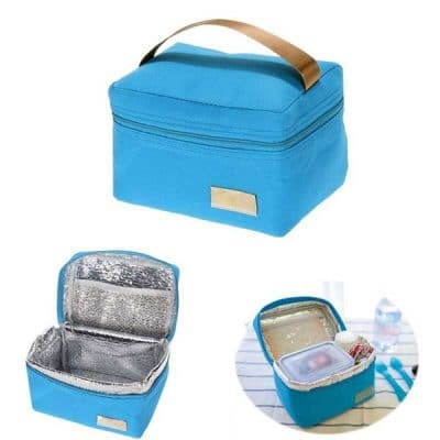 Παιδική τσάντα φαγητού μπλε με ισοθερμικό χώρισμα