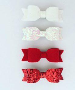 Κορδέλες μαλλιών με φιογκους σε κοκκινο και άσπρο