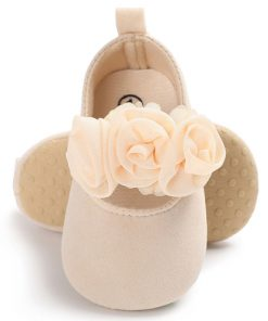 Βρεφικά παπουτσια αγκαλιας μπεζ με μπαρετα