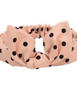 Κορδέλα-μαλλιων-με-δεσιμο-ροζ-με-μαυρες-βούλες