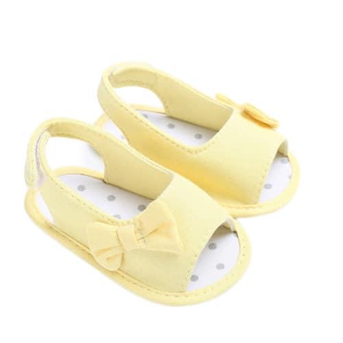 Βρεφικά-σανδάλια-κίτρινα-με-φιογκο-